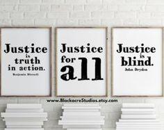 Justice Print Set Law School Graduation Gift by BlackacreStudios