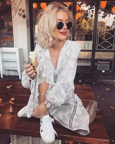 WEBSTA @ laurajadestone - Ice cream anyone? Fall Outfits, Summer Outfits, Casual Outfits, Fashion Outfits, Womens Fashion, Summer Wear, I Love Fashion, Fashion Beauty, Laura Jade Stone