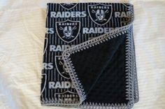 NFL Oakland Raider Football Fleece Minky 30 x 36 by JeannaSadorra, $25.00