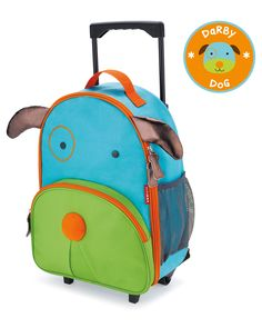 Little kids will love rolling through the airport or to Grandma's with their own Zoo luggage. Sized perfectly for carry-ons and overnight trips, Zoo luggage is Kids Rolling Luggage, Rolling Bag, Kids Luggage, Luggage Backpack, Dog Backpack, Toddler Backpack, Toddler Travel, Travel Luggage, Travel Kids