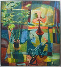 Kitchen still life by Allan Hugh Clarke (1919-1979)