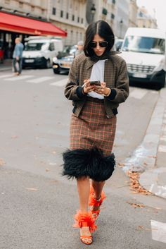 October 3, 2017 Prada, Paris, Gilda Ambrosio, Balenciaga, Feathers, SS18 Women's