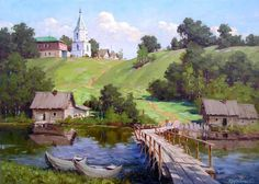 Artist : Sergey V. Fantasy Landscape, Landscape Art, Landscape Paintings, Winter Painting, Love Painting, Landscape Pictures, Nature Pictures, Russian Painting, Arte Popular