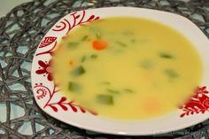 Sopa de feijão verde e cenoura