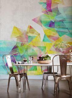 Wandbild Colorful Field von MR PERSWALL