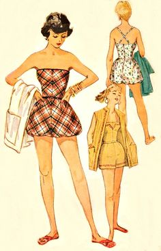1950s romper playsuit pattern