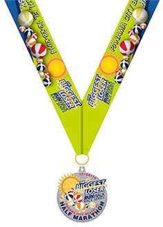 Score yourself awesome race bling at our New Year's Resolution race! The Biggest Loser RunWalk Panama City Beach Half Marathon medal. #BLRWPCB #NewYears #2015 #beachballdrop