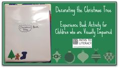 Here's an experience book activity for children who are blind, visually impaired or deafblind.