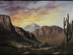 ▶ Paint with Kevin Hill - Sunlight Across the Desert - YouTube