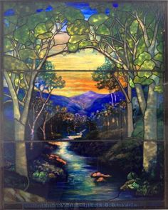 These are four panels of Louis Comfort Tiffany stained glass designs. Description from unearthingmycreativeidentity.blogspot.com. I searched for this on bing.com/images