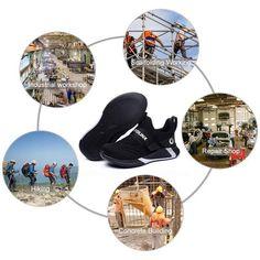 Archon Men's D723 Steel Toe Work Shoes – Tactical World Store Toe Shoes For Men, Mens Work Shoes, Steel Toe Work Shoes, Military Tactical Boots, Tactical Shoes, Tactical Watch, House Cladding, Fibre Material, Texture Design