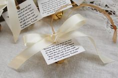 Wedding Kissing Bells Bell Favor Personalized Seed Envelope Unique 3 Jingle With Extra Ribbon