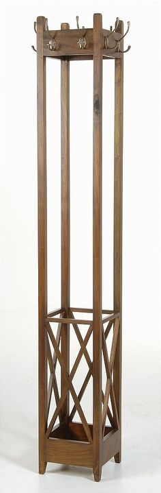 Ancient Marina Mahogany Village Square Coat Rack. Available to order online at www.homewoodinteriors.co.uk