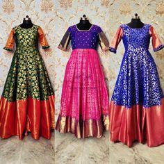 Kalamkari Dresses, Ikkat Dresses, Long Gown Dress, Saree Dress, Lehenga Skirt, Long Frock, Kids Dress Wear, Party Wear Dresses, Wedding Dresses