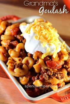 Foodies TV Grandma's Goulash Recipe Submitted By: Spend with Pennies http://foodiesnetwork.tv/grandmas-goulash/