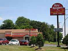 Roy Rogers Restaurants is a northeastern United States chain of fast food restaurants founded by the Marriott Corporation in 1968 in Falls Church, Virginia. As of 2010, Roy Rogers had 47 stores. In 2002, the Plamondon Companies purchased the trademark from Imasco, the former parent of Hardee's. Under the new owners the company is headquartered in Frederick, Maryland.[1]  Roy Rogers' menu consists primarily of hamburgers, roast beef sandwiches, fried chicken, french fries and beverages.