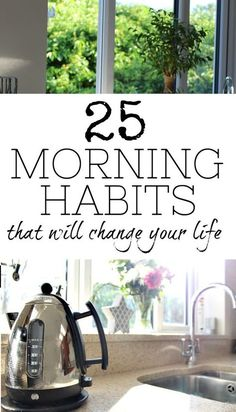 These morning habits are fantastic ideas to add to your daily routine every day as soon as you wake up. Each one is a healthy and good thing to do and it may just change your life in the process - after all, if you start the day right, you'll be able to c Good Habits, Healthy Habits, Healthy Life, Healthy Food, Evening Routine, Night Routine, Morning Habits, Morning Routines, Daily Routines