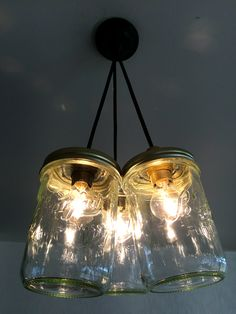 DIY Mason jar light, easy to make / Luminaires Bocaux facile à faire