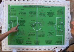 Tableau matrimonio nomi tavoli tema calcio UEFA Champions League