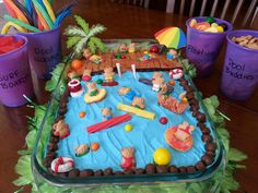 My Pool party cake