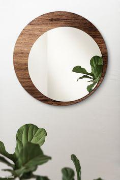 Gold Framed Mirror, Wooden Frame Mirror, Mirror Crafts, Diy Mirror Decor, Mirror Ideas, Deco Boheme Chic, Circular Mirror, Round Mirrors, Diy Tutorial