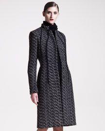 Bottega Veneta Seamed Jacquard Coat