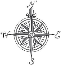 Nauticus - Compass Rose | Urban Threads: Unique and Awesome Embroidery Designs