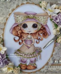 Bestie close-up by Trine Kristiansen... see her pretty sewing box in the blog post