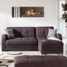 Istikbal Kubo Reversible Chaise Sectional Upholstery: Andrea Brown