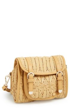 POVERTY FLATS by rian Woven Crossbody Camera Bag available at #Nordstrom