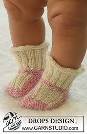 Ravelry: b17-22 Booties pattern by DROPS design