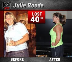 What girl doesn't want to lose weight? Check out Julie and her amazing Transformation with TapouT XT