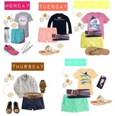 Preppy Outfits For A Week