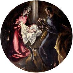 """El Greco (1541-1614) """" La Natividad """" Illescas. Toledo"""