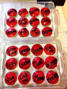 """Fundraising cupcakes that I made for Thomas Jefferson University Med School's annual production of """"The Vagina Monologues."""""""