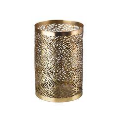 Discover the Pols Potten Pierced Candle Holder - Brass - Medium at Amara