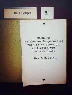 Final Warning.