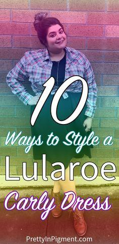 10 Ways to Style a Lularoe Carly Dress   fashion, style, plus size fashion
