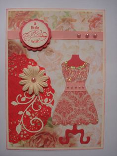 Another doily card with my favourite Stampin Up dress die.