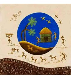 Grazing Warli Painting