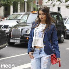 Mariella Sarto veste Espaço de Moda.