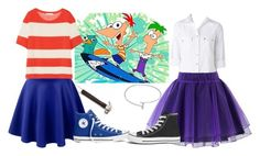 """Favorite TV show: Phineas and Ferb"" by madalynkw on Polyvore featuring Sterling Essentials, LE3NO, Acne Studios, Converse, Croft & Barrow and Chicwish"