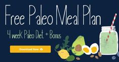 Free Paleo Meal Plan via 7 Day Meal Plan, Paleo Meal Plan, Paleo Diet, Meal Prep, Keto, Spinach And Cheese, Cow Cheese, How To Cure Anxiety, Low Carb Recipes
