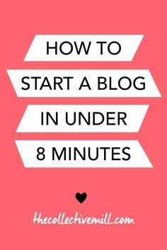 How to Start a Blog in Under 8 Minutes: Starting a blog was one of the best…