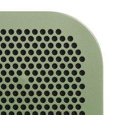 Speaker, hole, pattern, paint, green