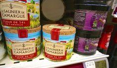 fleur de sel from French supermarket  Paris Monoprix souvenir grocery store