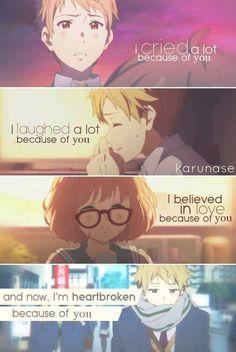 Everything for her </3 Anime: Kyoukai No Kanata