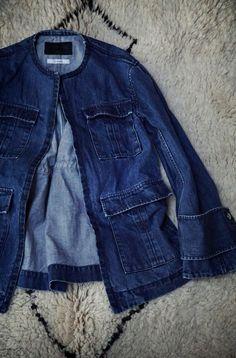 ...lancah Denim Button Up, Button Up Shirts, Tops, Fashion, Moda, Fashion Styles, Fashion Illustrations