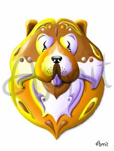 Chow Chow by SiberianArt on Etsy, $35.00