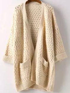 Bust(Cm): 128cm Shoulder(Cm): 66cm Size Available: one-size Sleeve Length(Cm): 32cm Length(Cm): 74cm Season: Fall Pattern Type: Cable-knit Items: Coat Color: Beige Types: Loose Sleeve Length: Half Sle